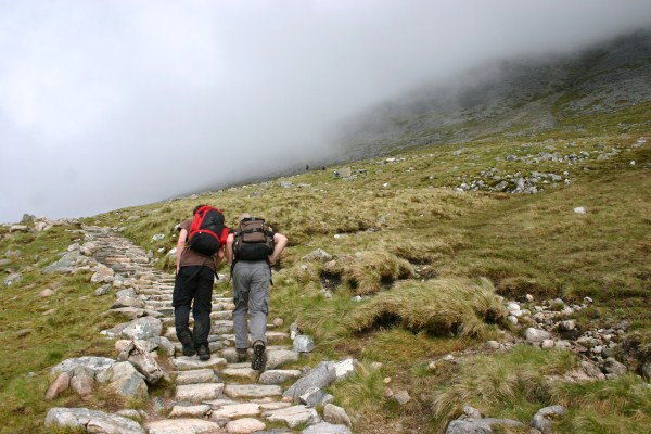 Walkers on the Three Peaks Challenge